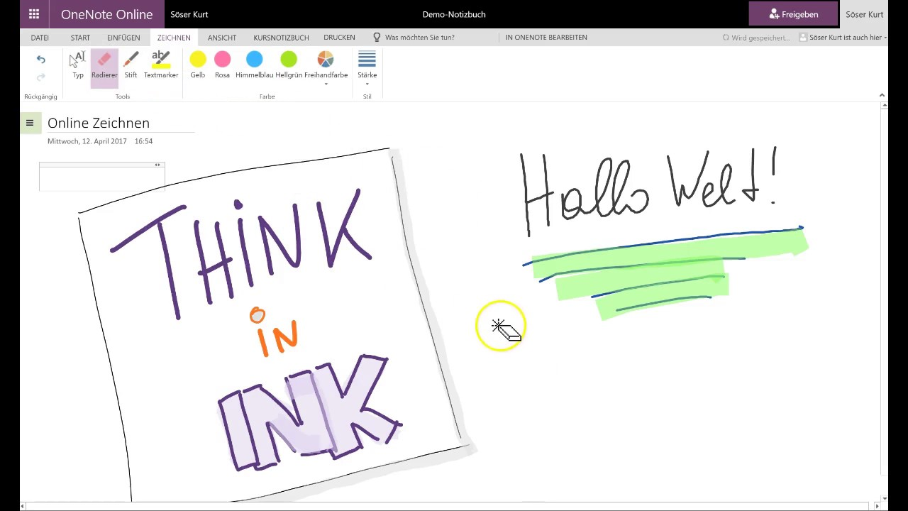 Onenote inking online + Office Forms - YouTube