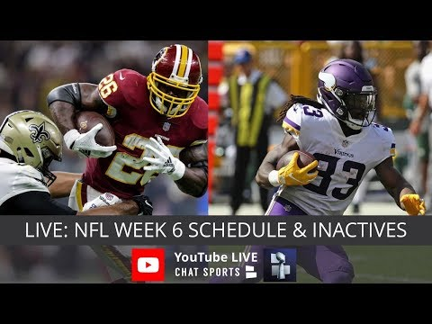 NFL Week 6 Live Streaming Of Injury Info For NFL Games Today, NFL Schedule & NFL Inactives - 동영상