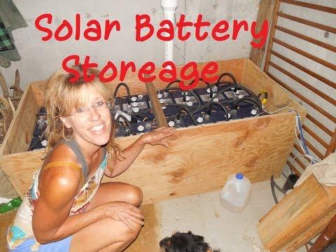 Off Grid Living: Solar Battery Storage