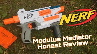 rEVIEW Nerf Modulus Mediator Review - Compact Nerf Rampage with Swappable Barrels?