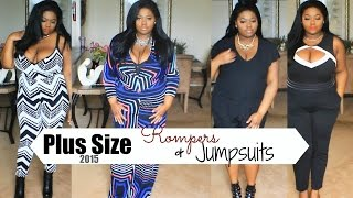Rompers & Jumpsuits Plus Size Summer Lookbook 2015 ft. Gstage Love