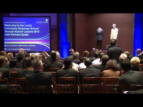 Leeds University Business School Annual Alumni Lecture 2012 part four - Q&A