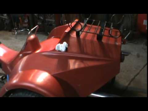vw trike clean and wet sand