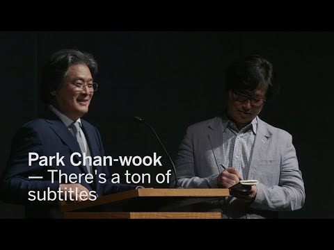 PARK CHANWOOK There's a ton of subtitles  TIFF 2016