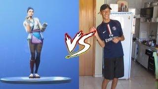 FORTNITE DANCE CHALLENGE IN REAL LIFE (I challenged Felipe Neto)