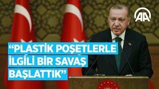 Cumhurbaşkanı Erdoğan: Plastik poşetlerle ilgili bir savaş başlattık