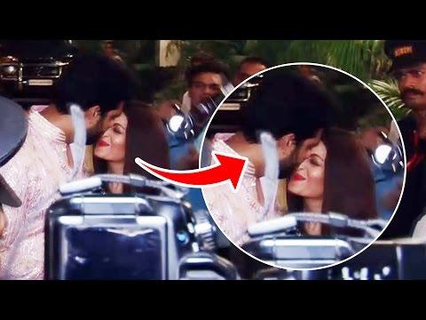 Abhishek Bachchan KISS Aishwarya Rai - ROMANTIC Moment - Diwali Bash 2016