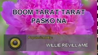 WILLIE REVILLAME - BOOM TARAT TARAT (#8523) VIDEOKE KARAOKE Platinum Piano Sd-40