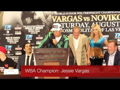 WBA Champion: Jessie Vargas at Top Rank press conference