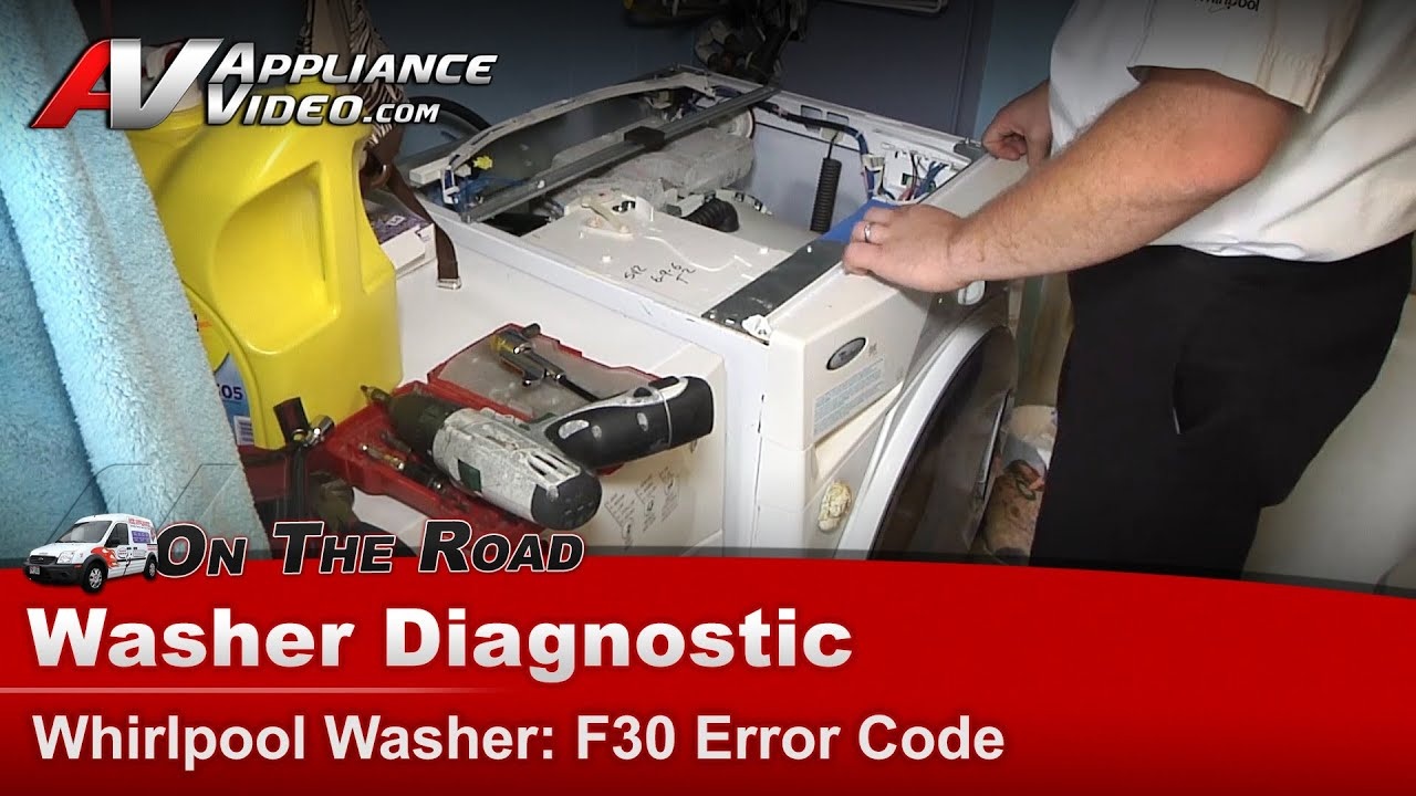 Whirlpool Washer Diagnostic F30 Error Code Wfw8300sw00 Youtube Diagram Parts List For Model Whirlpoolparts