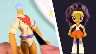 CUSTOM My Little Pony SAFFRON MASALA Equestria Girls Minis Doll MLP Tutorial | SweetTreatsPonies