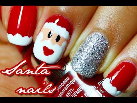 Easy Santa Claus Nail Art Youtube