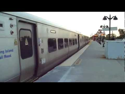 MTA LIRR: 2002-07 Bombardier M-7 LIRR Trains at St.Albans (Babylon Branch) (2/6)