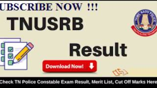 TNUSRB Official Final Result And Cut-off 2018