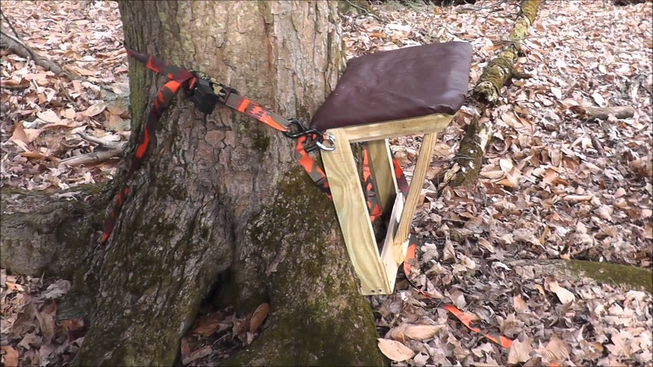 My Latest Mancave Creation The Portable Tree Seat Youtube