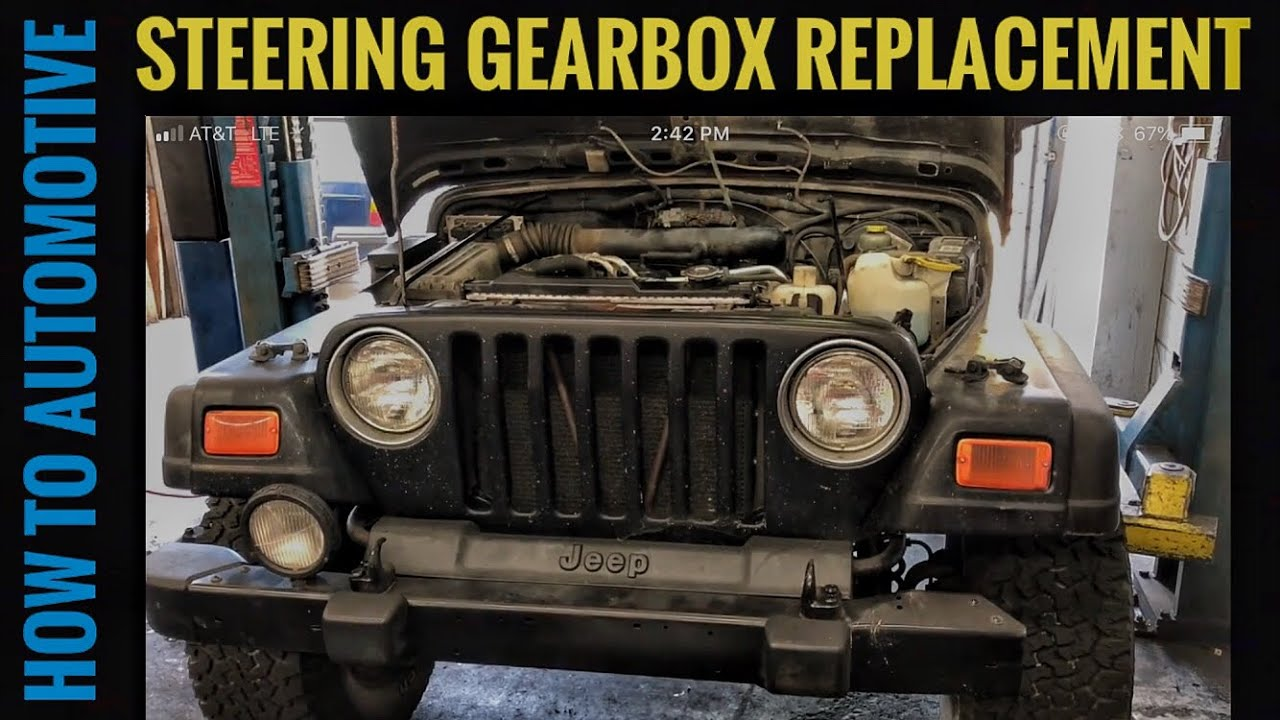 How To Replace The Power Steering Gear Box On A 1998 2007 Jeep 2005 Liberty Fuel Filter Location Youtube Premium