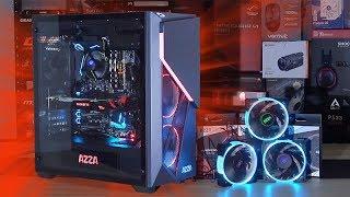 AZZA Inferno 310 + Hurricane RGB Fans = EYE-CATCHER