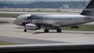 Spirit Airlines A319 Taxi to Gates KATL (Hartsfield--Jackson Atlanta International Airport)
