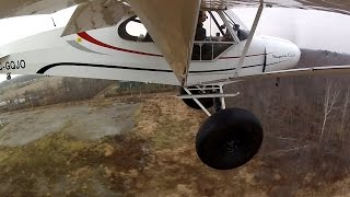 flying with massive tundra tires mechanic shop change over from floats super cub