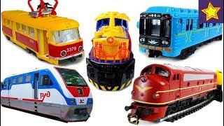Про железнодорожный транспорт для детей все серии подряд Video for kids