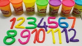 learn to count with play doh Numbers|1-20|learn to count for children|playdoh numbers quick video