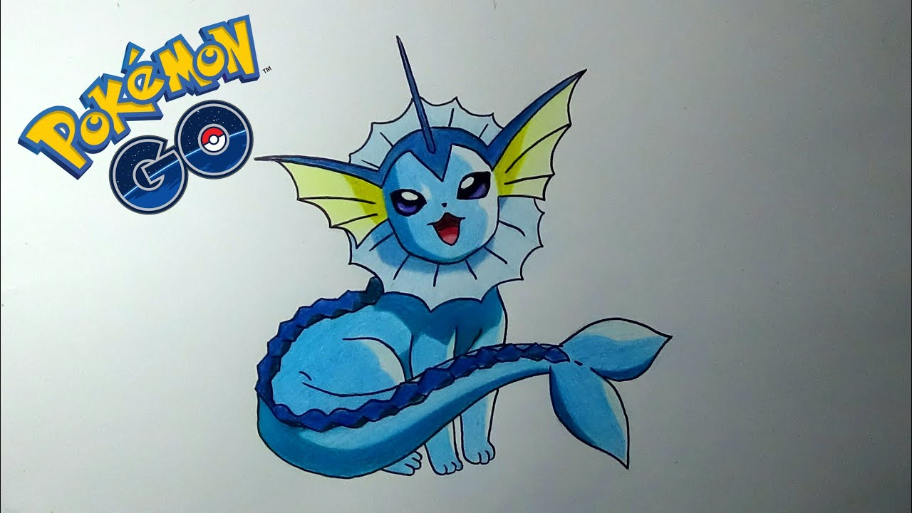 Cómo dibujo yo al pokemon Vaporeon - How to draw a Vaporeon ...