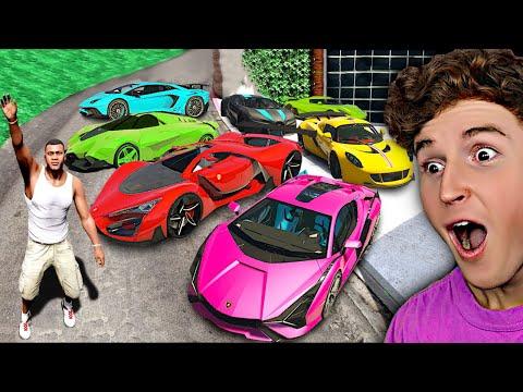 Collecting Rare BILLIONAIRE SUPER CARS In GTA 5.. (Mods)