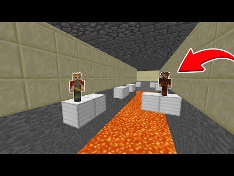 ARDA VE RÜZGAR LAVLARA DÜŞMEDEN TÜNELİ GEÇEBİLECEK Mİ? 😱 - Minecraft