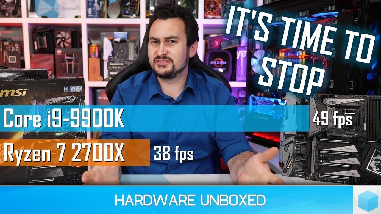 Превосходство Intel Core i9-9900K в играх над AMD Ryzen 7 2700X не такое очевидное, как предполагалось (новые тесты)