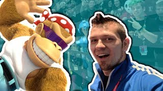 Donkey Kong Tropical Freeze: Funky Kong Speedruns On Stage at Nintendo PAX East 2018!
