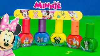 MINNIE MOUSE Disney Minnie Mouse Nail Polish Set a Minnie Mouse Video Toy Review