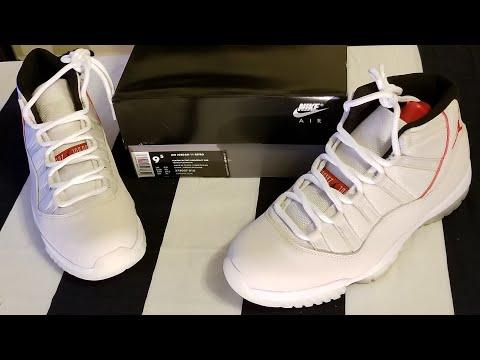 d669e78bd9621 Jordan 11 Retro Platinum Tint  Unboxing  - YouTube