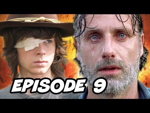 Walking Dead Season 8 Episode 9 Carl Grimes - TOP 10 WTF And Easter Eggs