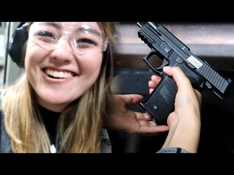 MY GIRLFRIEND SHOOTS A GUN FOR THE FIRST TIME