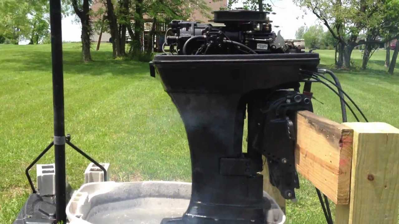 1995 mercury force outboard 2 cylindar 2 cycle motor 40 hp youtube rh youtube com 1995 mariner 40 hp outboard manual Used 40 HP Mariner Outboard