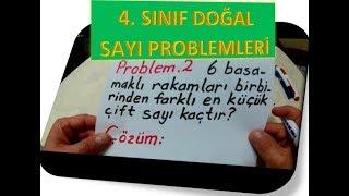 4  SINIF DOĞAL SAYI PROBLEMLERİ