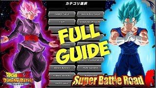 THE ULTIMATE CATEGORY SUPER BATTLE ROAD GUIDE FOR GLOBAL & JP: DBZ Dokkan Battle