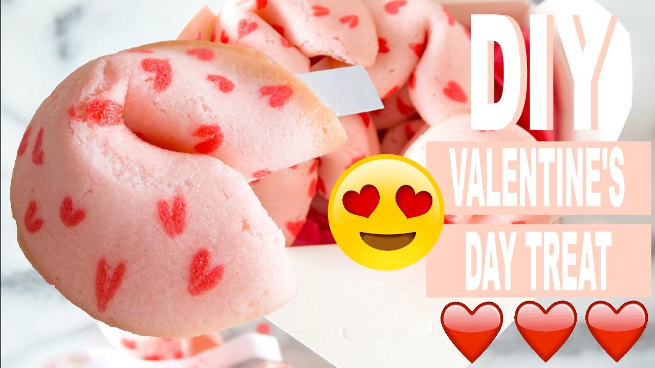 Diy Valentine S Day Heart Fortune Cookies Cute Valentine Gift Idea
