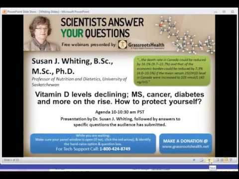Dr. Susan Whiting - Vitamin D Levels & Disease - MS, Cancer, Diabetes & More on the Rise