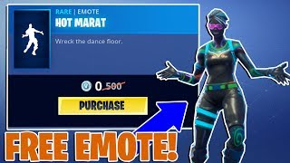 NEW *FREE* FORTNITE EMOTE - HOT MARAT in the ITEM SHOP!
