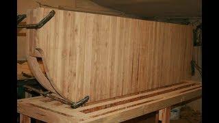 Как изготовить столешницу из дерева, продолжаем делать кухню