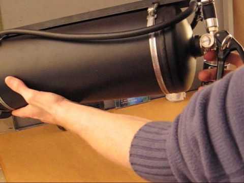 compressed air machine gun