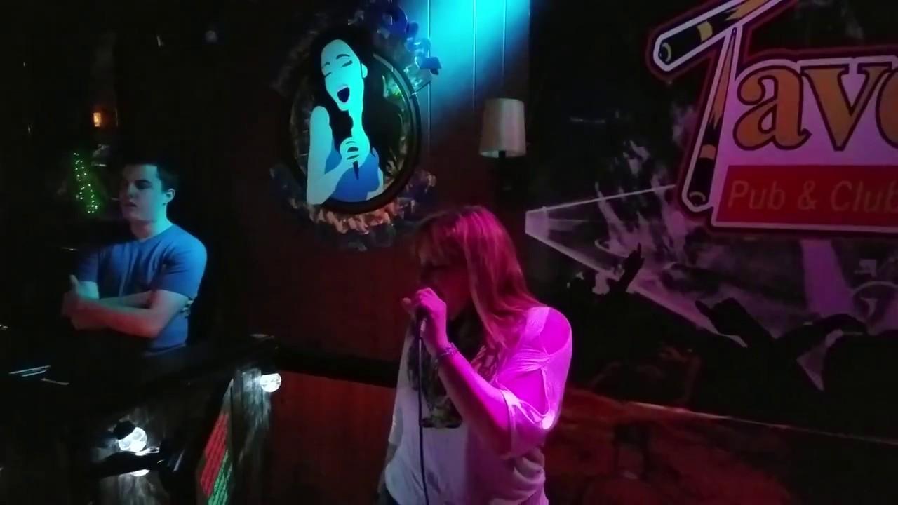 The Warrior by Scandal - Kareoke ~ Stephanie Erb at The Tavern, Bangor Me