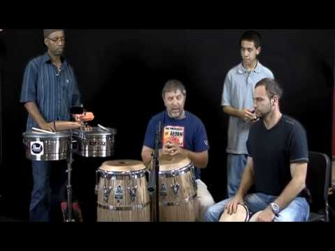 Salsa Trio Conga Drum Bongo and Timbales