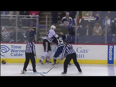 John Scott vs Derek Dorsett Feb 18, 2012