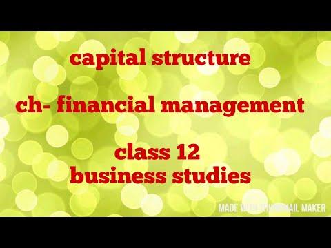 Capital structure (class 12)