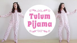 Kışlık tulum pijama kadın