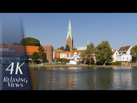 4K Ultra HD Relaxing Video: Lübeck, Germany - Altstadt (Old Town), Trave, Hafen (Harbor)