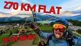 270 Km On A Paraglider Stunning Hyperlapse Swiss Alps