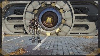 Fallout 76 Camp Inside a Pre-Existing Building with Power Armor and Fusion Core Farm